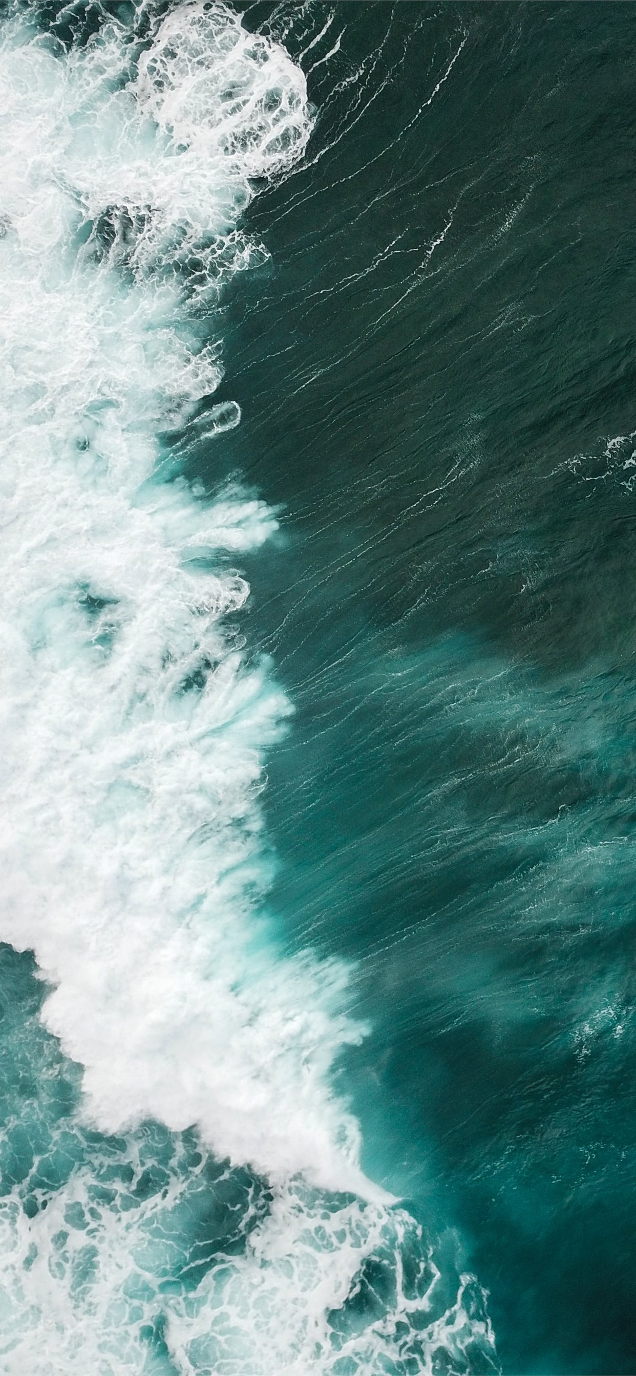 aerial of water waves iphone x wallpapers free