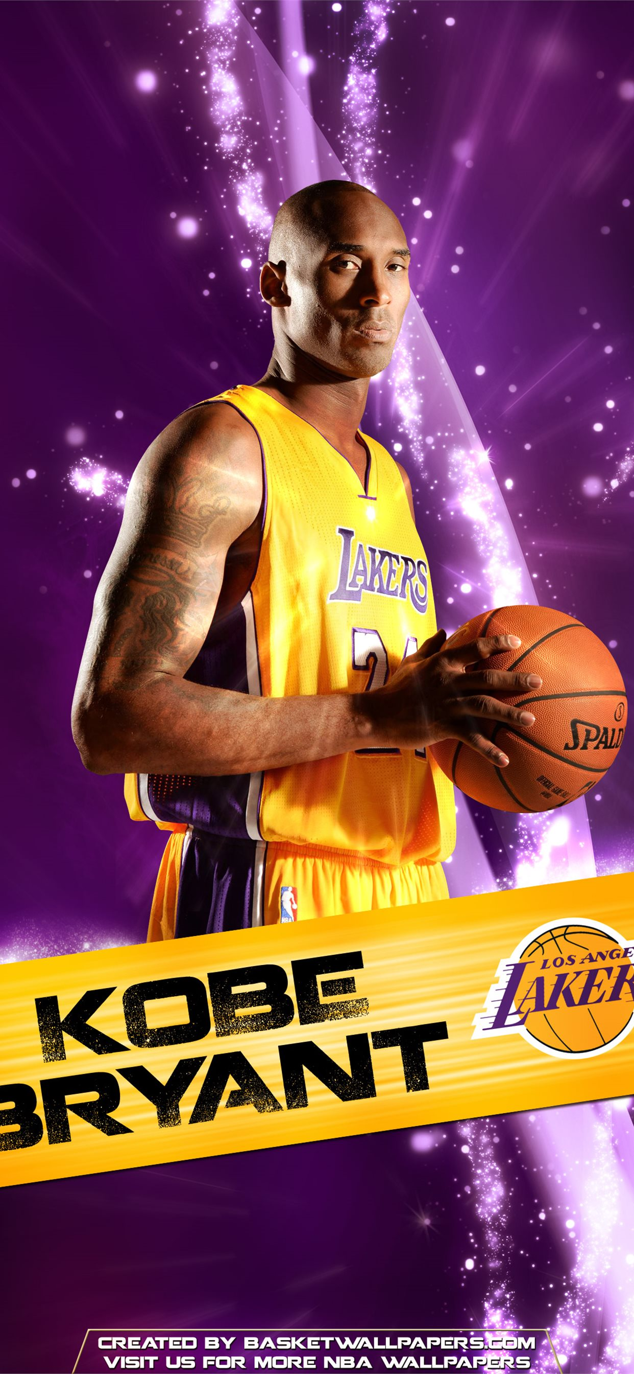 Kobe Bryant Los Angeles Lakers 2016 Mobile Wallpap Iphone X Wallpapers Free Download