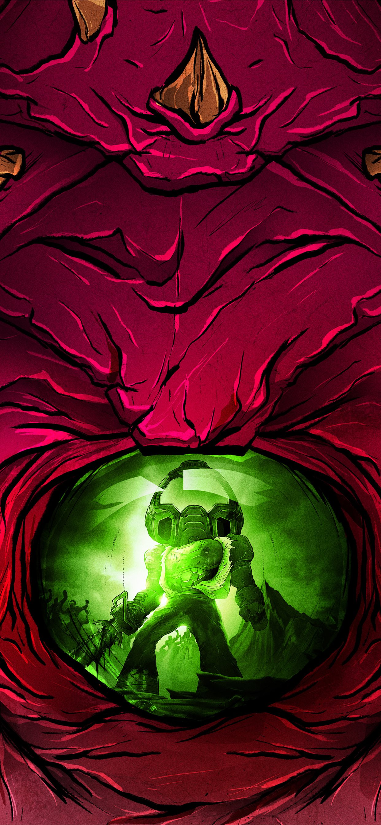 Doom Eternal Slayerclub Starship Doomers 5k Iphone Wallpapers Free