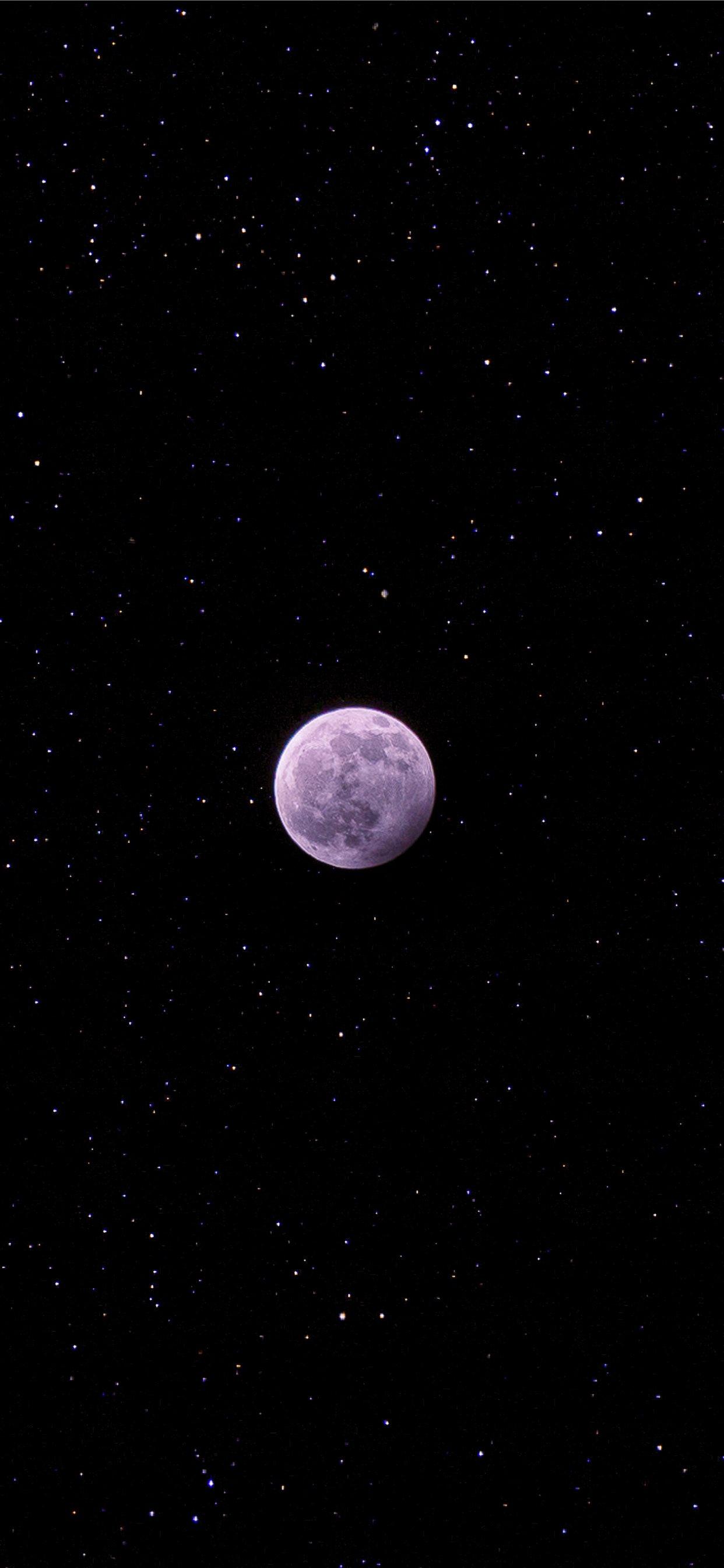 full moon during night iPhone X ...