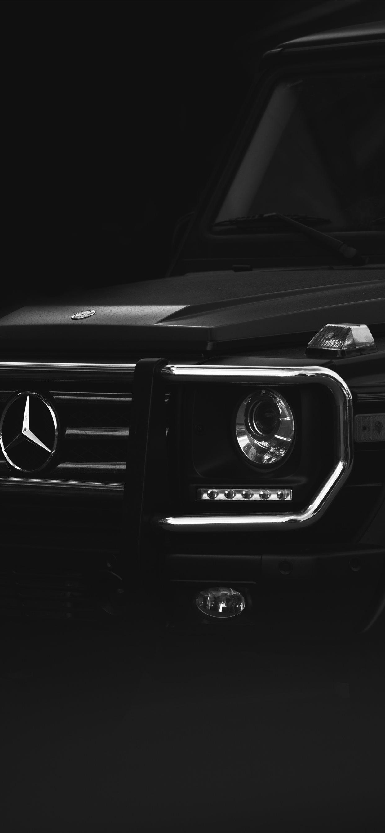Black Mercedes Benz Car Iphone X Wallpapers Free Download