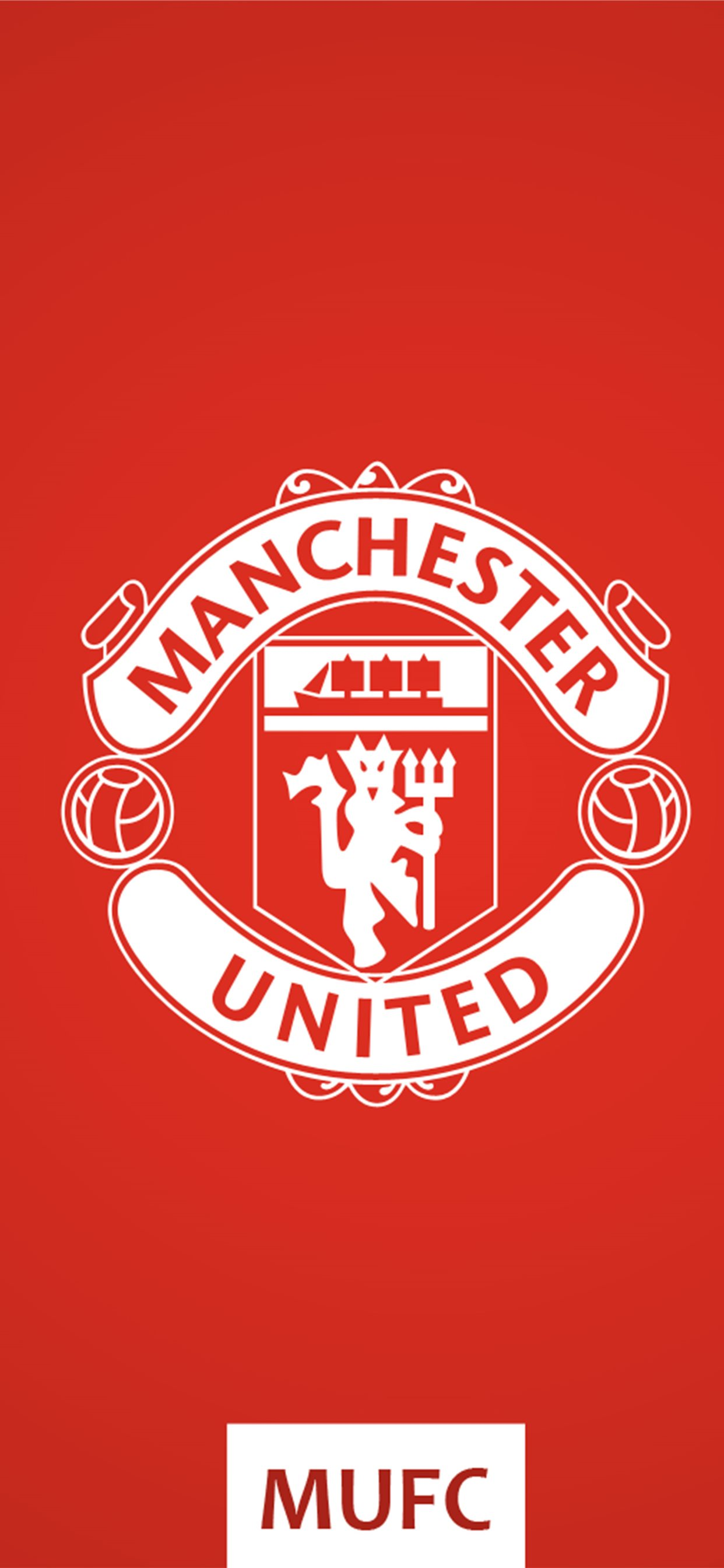 Manchester United Fc Logo Red Background Free 4k U Iphone X Wallpapers Free Download
