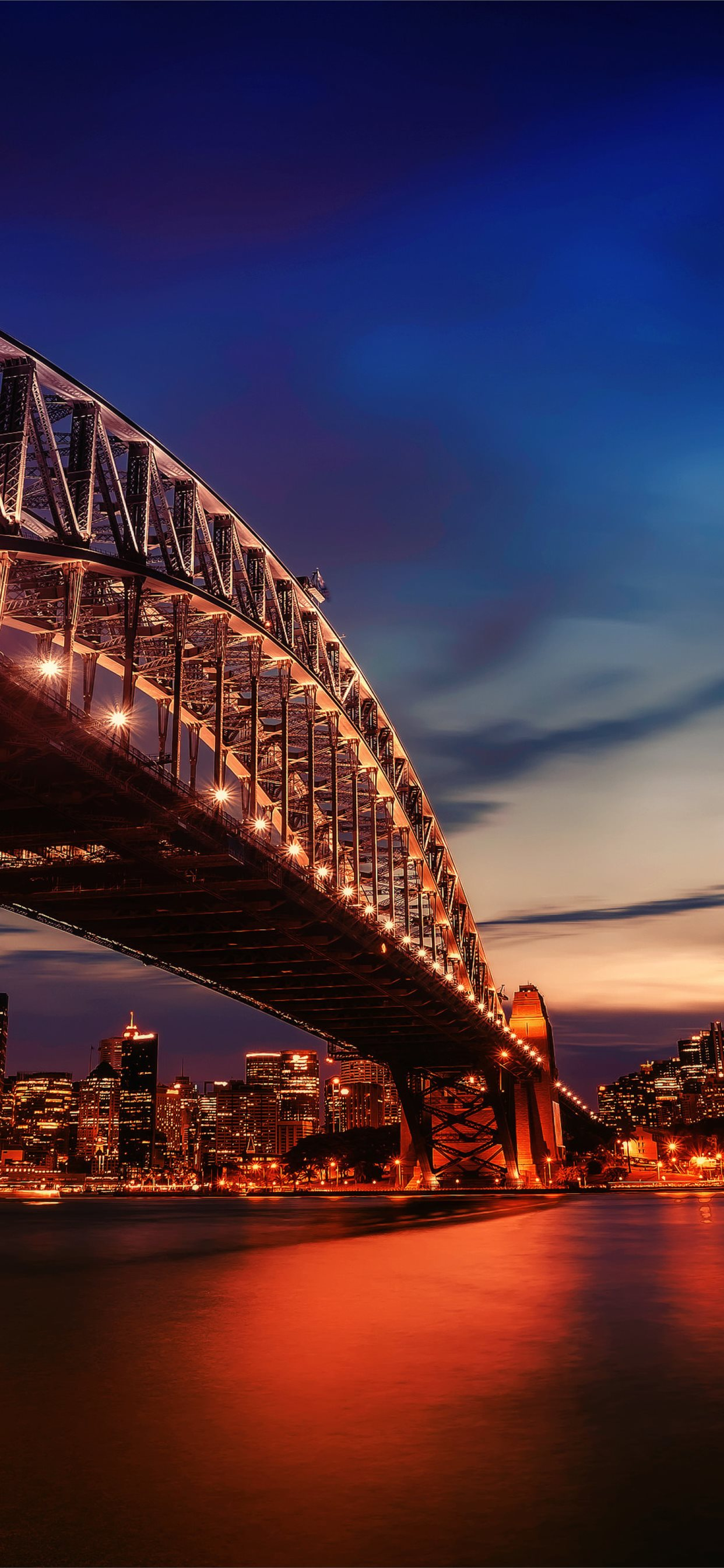 City Lights Sydney Harbour Bridge 4k Samsung Galax Iphone X Wallpapers Free Download