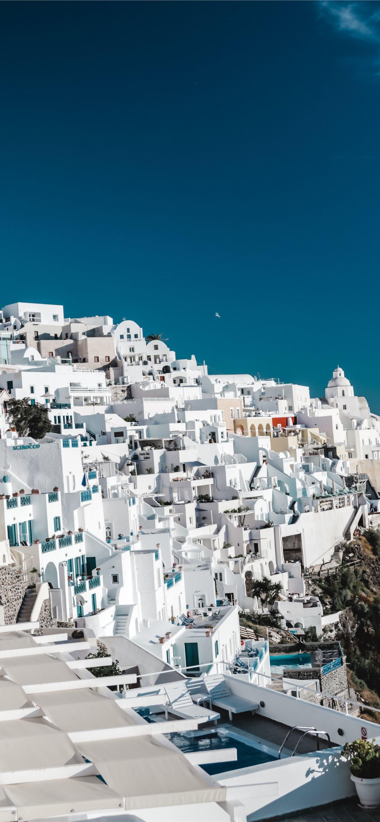 Santorini Greece View Travel Blog Iphone X Wallpapers Free Download