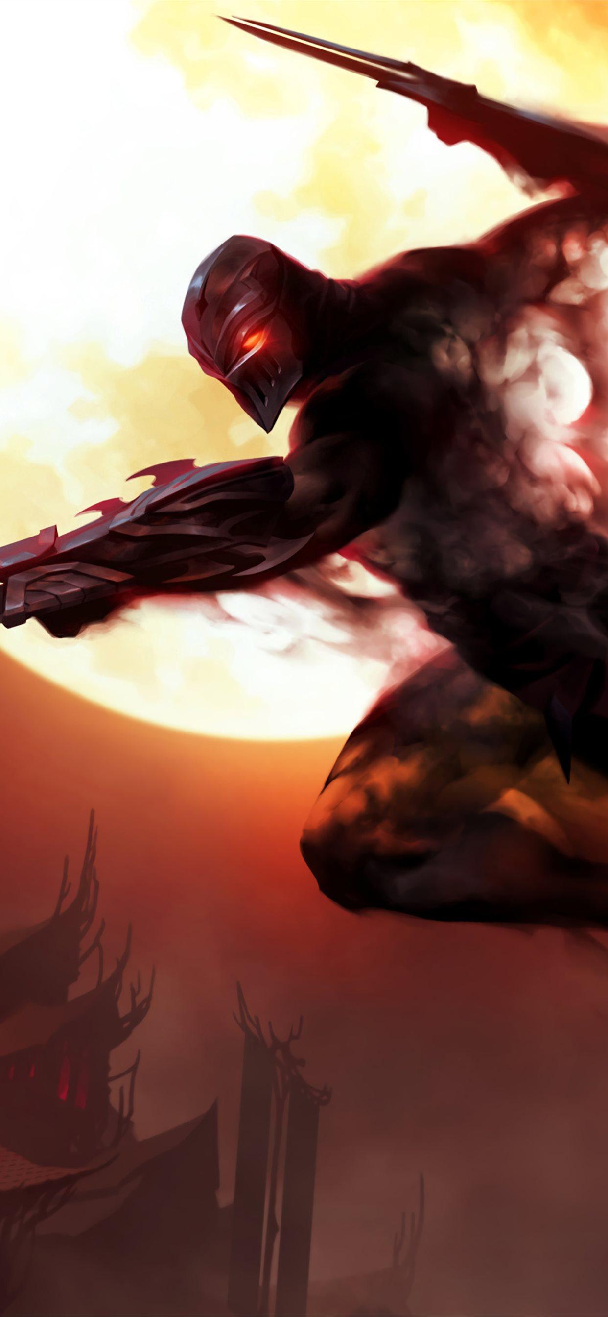 Zed Legends Of Runeterra League Of Legends 4k Iphone X Wallpapers Free Download