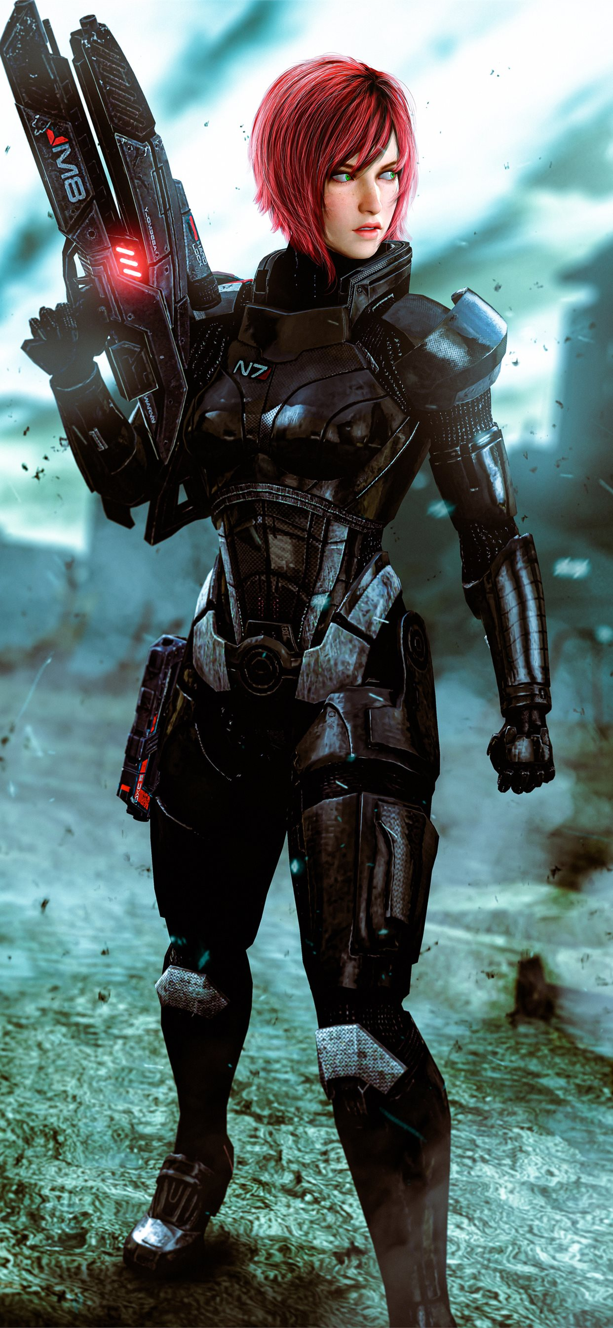 Jane In Mass Effect 4k Iphone X Wallpapers Free Download