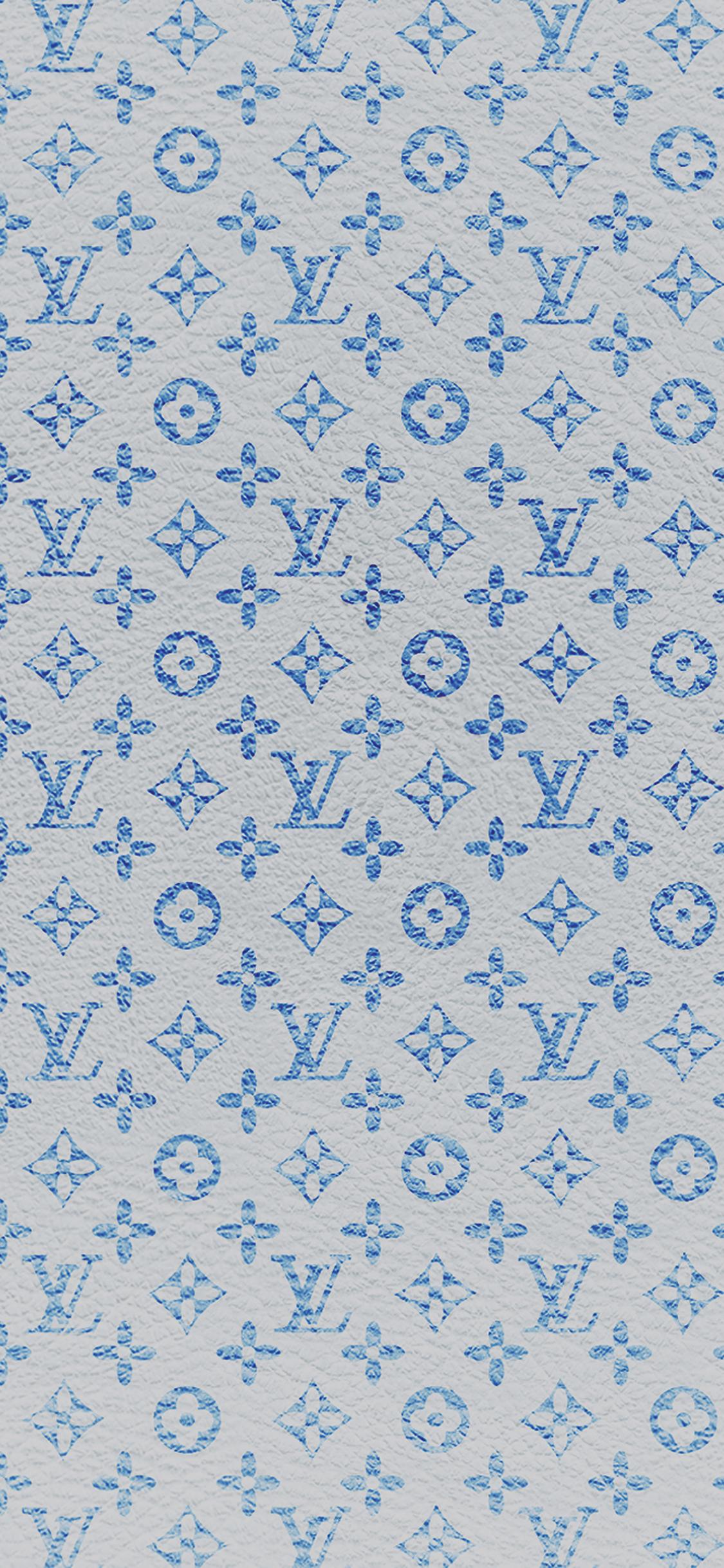 Louis Vuitton Blue Pattern Art Iphone X Wallpapers Free Download