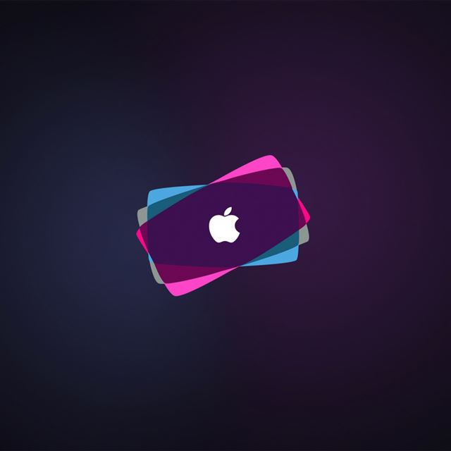 Overlapping Apple Logo iPad wallpaper