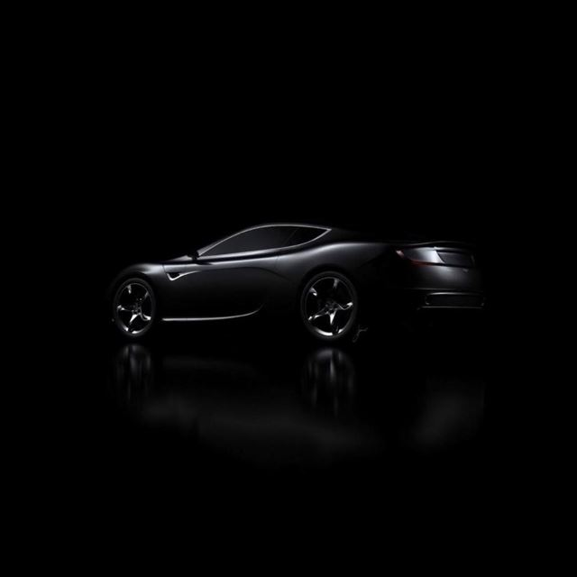 Black Sports Car iPad wallpaper