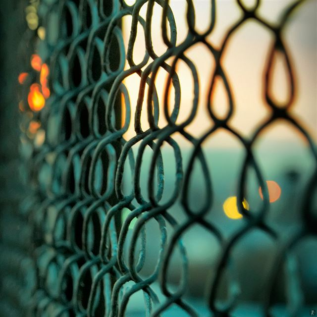 Chain Link Fence iPad wallpaper