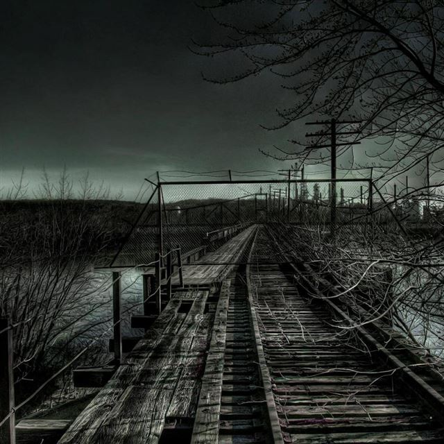 Dark Railroad iPad wallpaper
