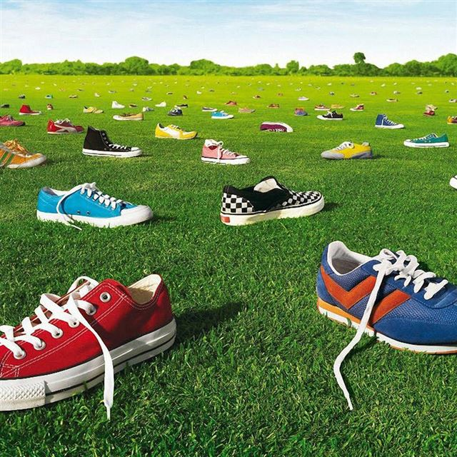 Field of Shoes iPad wallpaper
