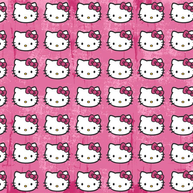 Hello Kitty Pattern iPad wallpaper