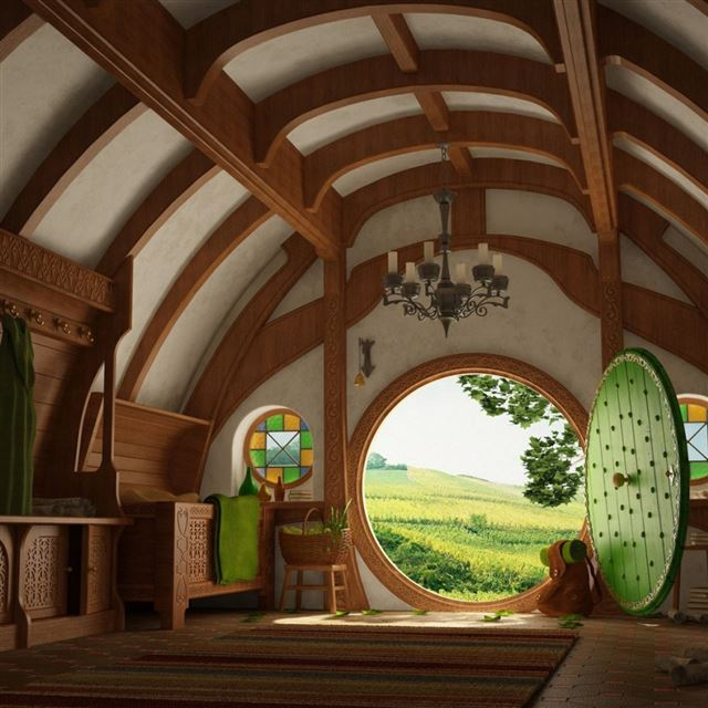 Hobbits House iPad wallpaper