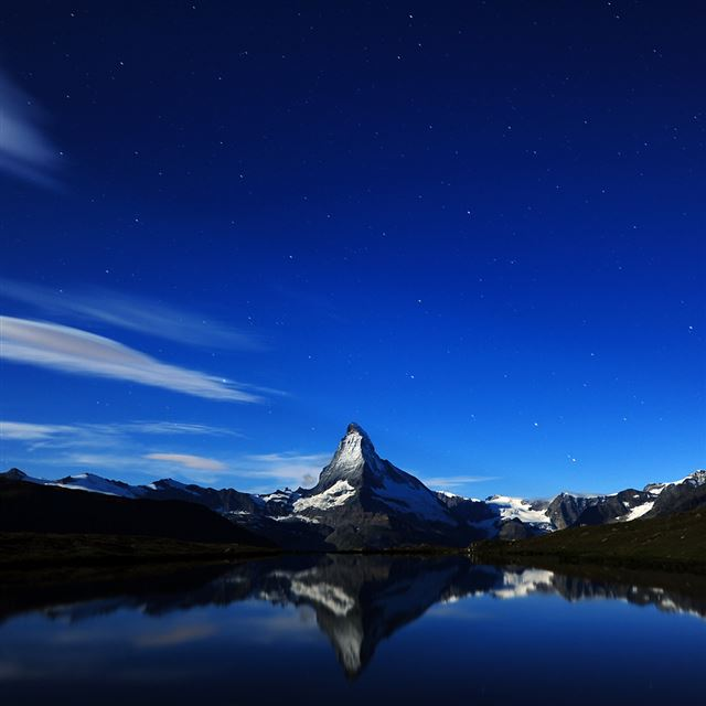 Mountain Nightfall iPad wallpaper