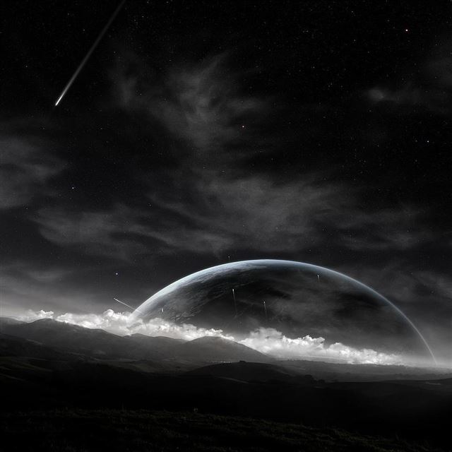 Meteor Dusk iPad wallpaper