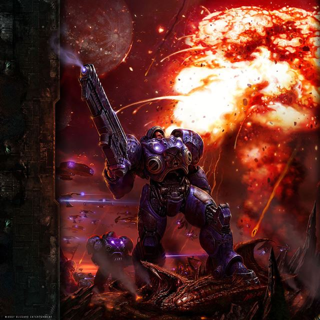 Starcraft Marine iPad wallpaper