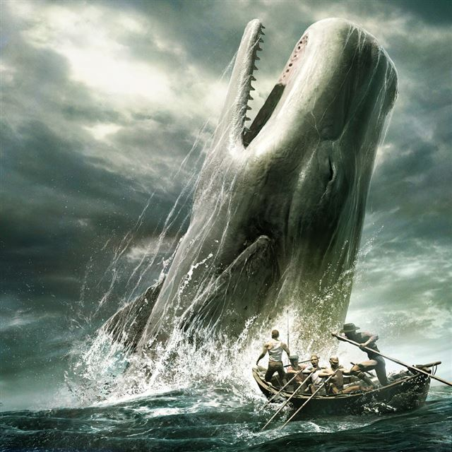 Whale Hunting iPad wallpaper