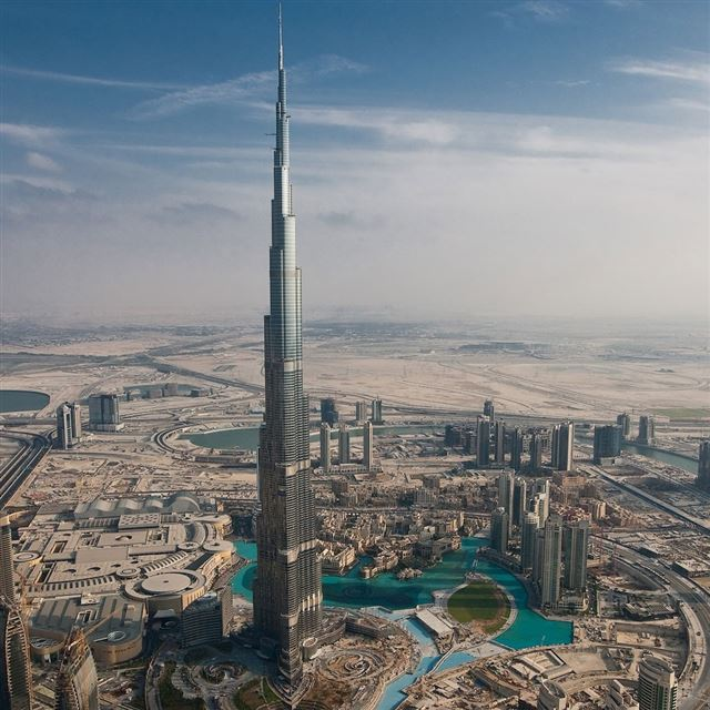 Dubai Tall Tower iPad wallpaper