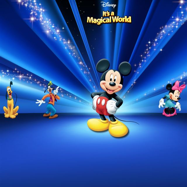 Disney  Characters Dark Blue iPad wallpaper