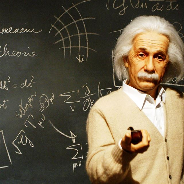 Albert Einstein Teacher iPad wallpaper