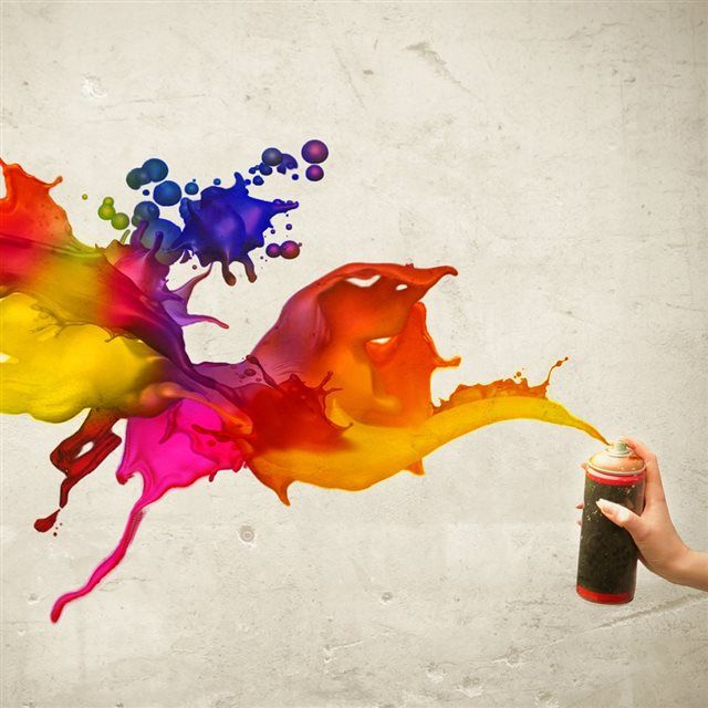 Colors Spray iPad wallpaper