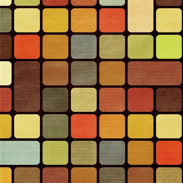 Rubiks Cube Squares Retro iPad wallpaper