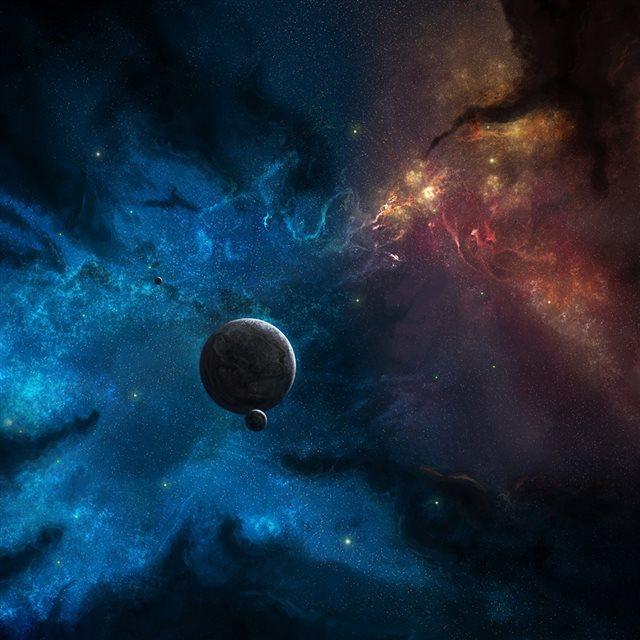 Space World Corner iPad Wallpapers Free Download