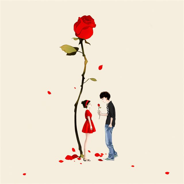 Rose Love iPad wallpaper