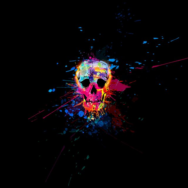 Skull Colorful  iPad wallpaper