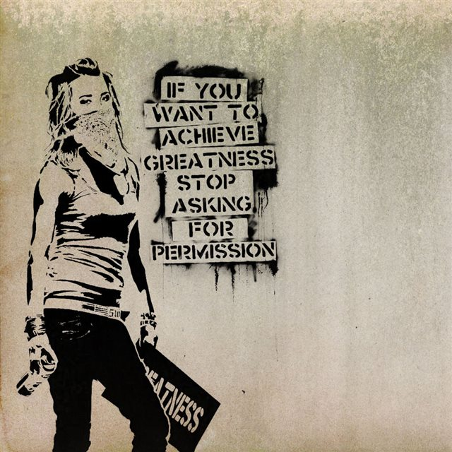 Graffiti slogan iPad wallpaper