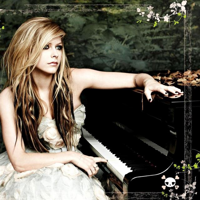 Avril Piano Singer Music Female iPad wallpaper
