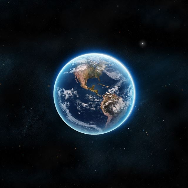 Earth The Blue Planet iPad wallpaper
