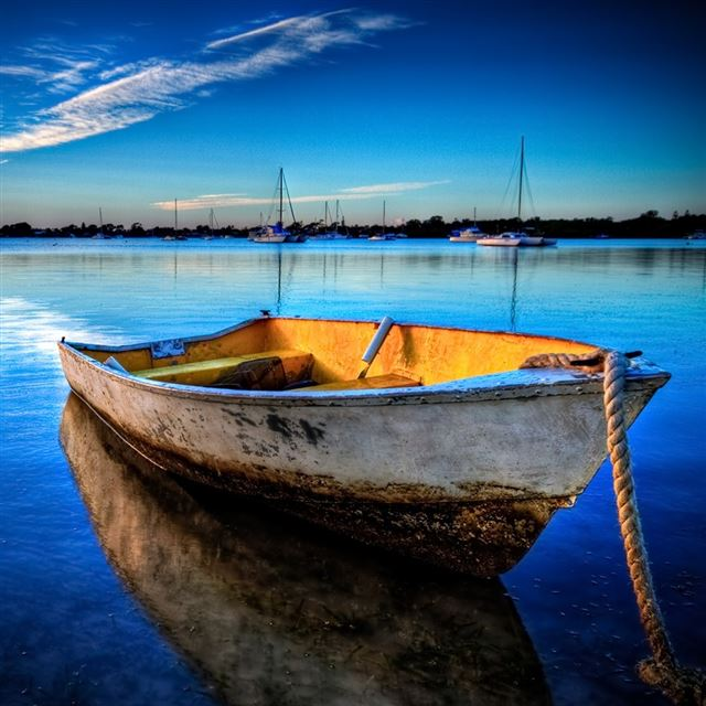 Exceptional Boat Anchored iPad wallpaper