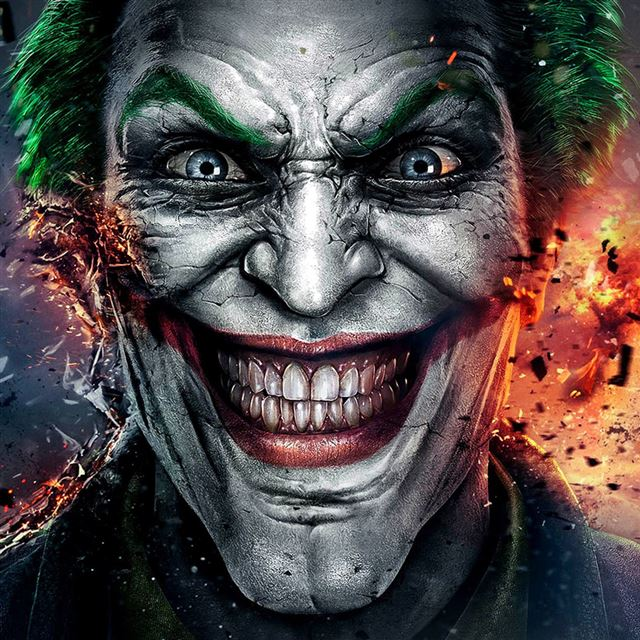 Joker face iPad wallpaper