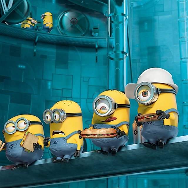 Paradise Minions Despicable Me iPad wallpaper