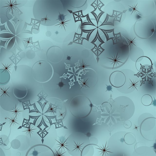 Snowflakes Digital Art iPad wallpaper