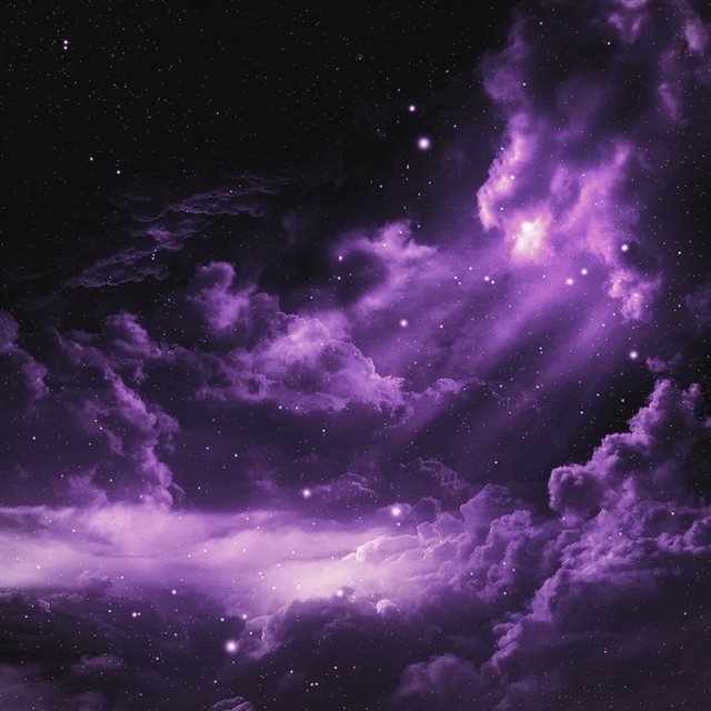 Purple Cloudy Space iPad wallpaper