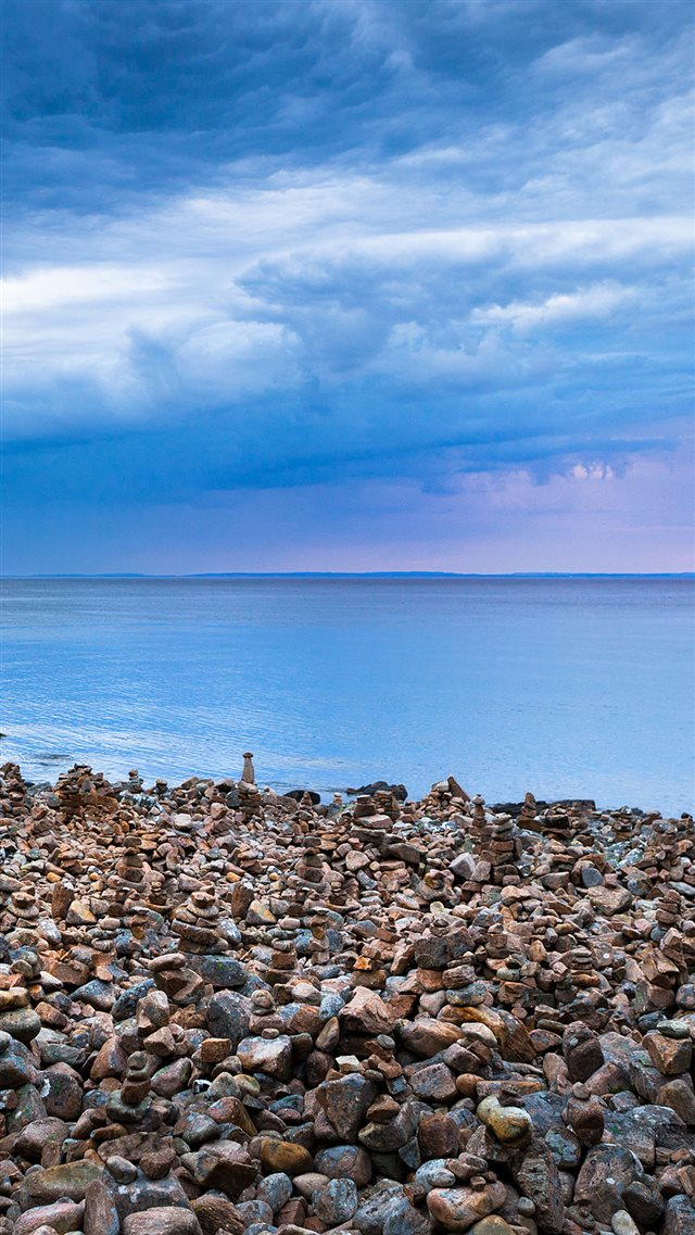 Rock Stone Beside Sea iPhone 8 wallpaper