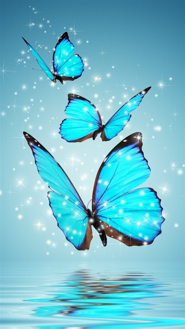 Blue Butterflies iPhone 8 wallpaper