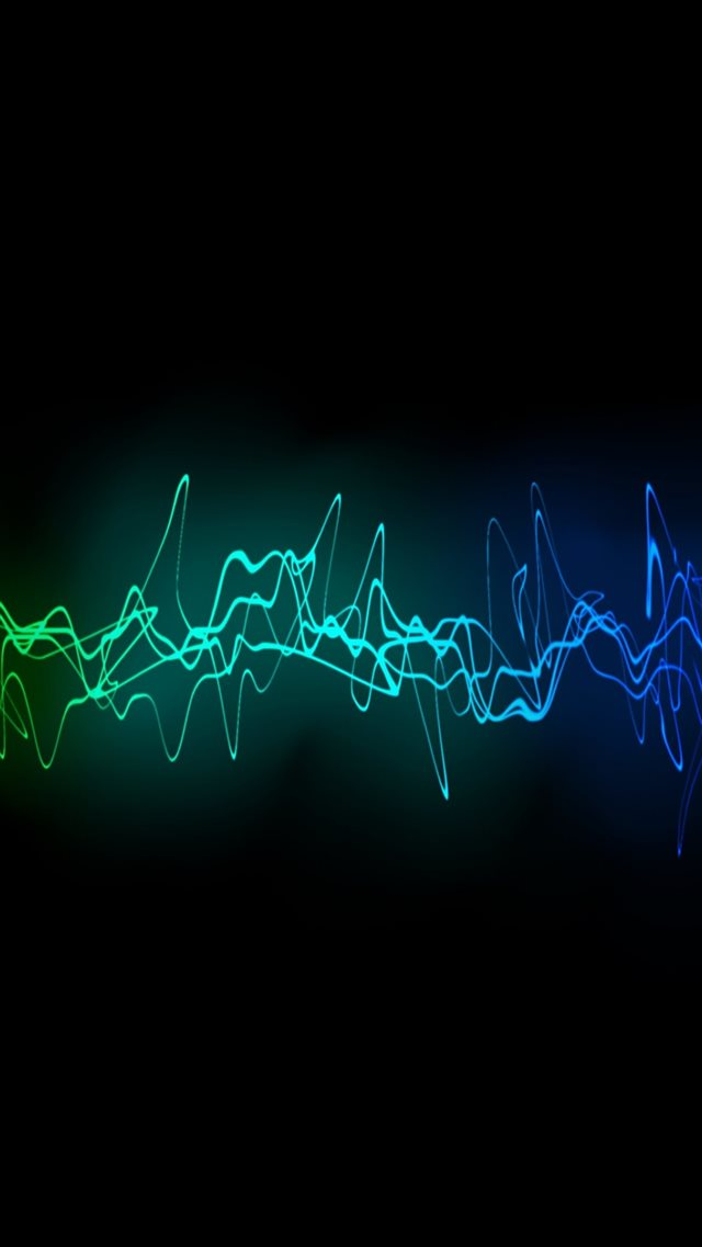 Cool Sound Waves iPhone 8 wallpaper