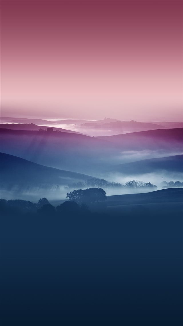 Hazy Nature iPhone 8 wallpaper