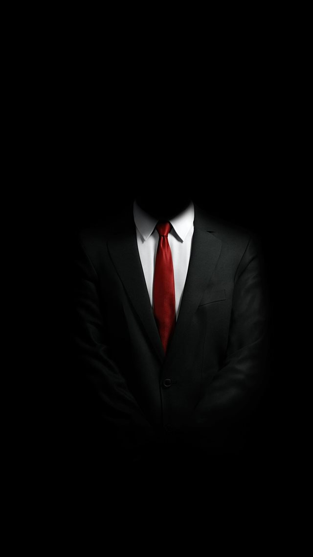 Mystery Man In Suit iPhone 8 wallpaper