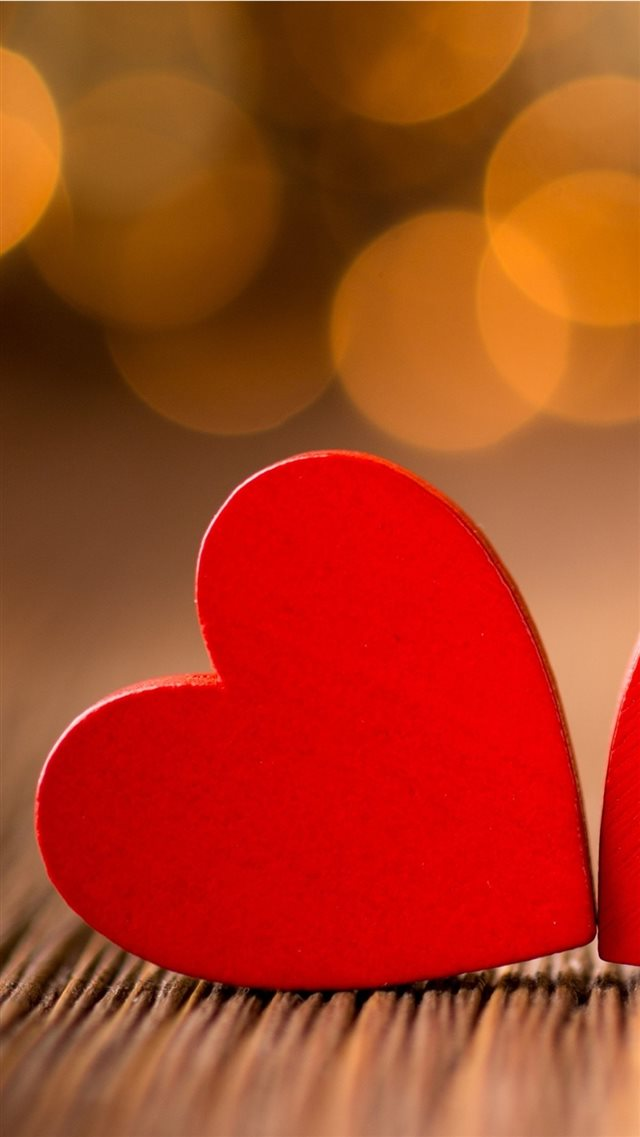 Red Little Hearts iPhone 8 wallpaper