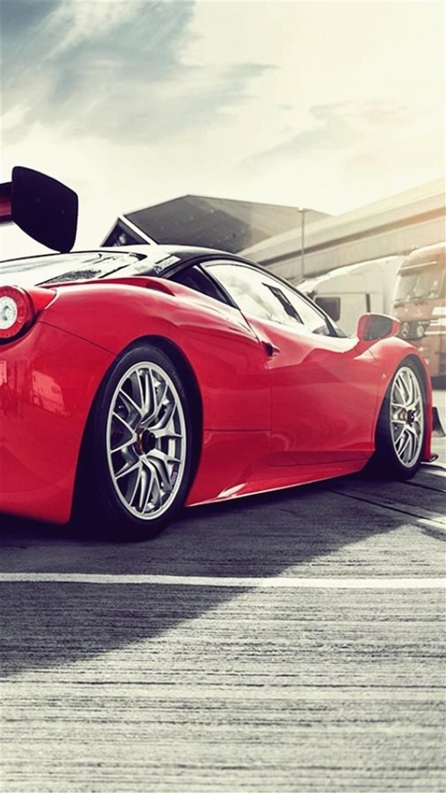 Ferrari 458 Italia GT3 iPhone 8 wallpaper