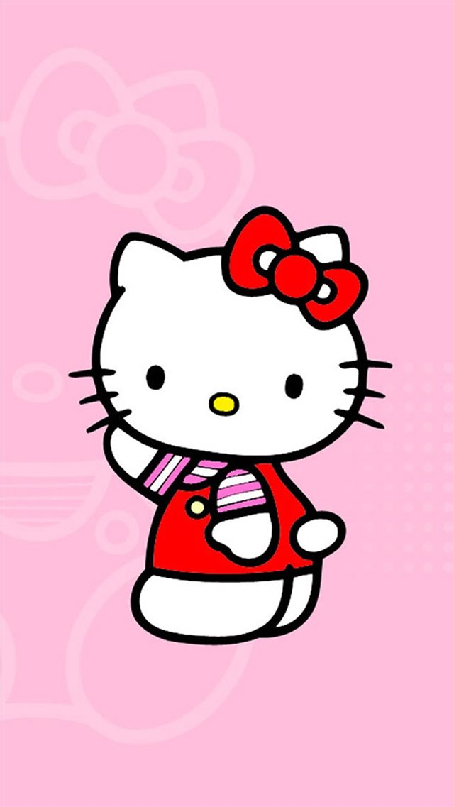 Cute Hello Kitty iPhone 8 wallpaper