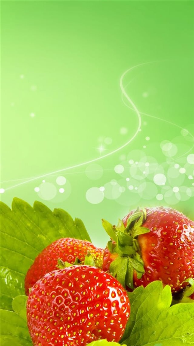 Fresh Strawberry Fruit iPhone 8 wallpaper