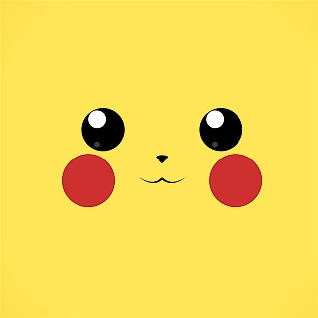 Anime Cute Pikachu iPad wallpaper