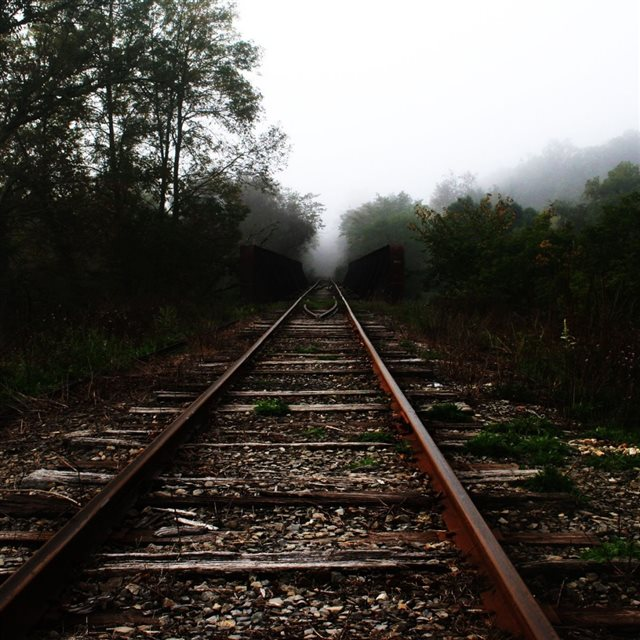 Old Train Track iPad wallpaper