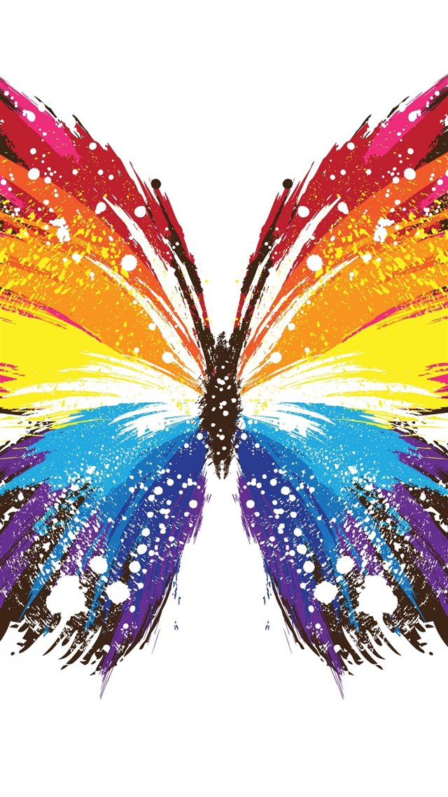 Abstract Butterfly Colorful Pattern iPhone 8 wallpaper